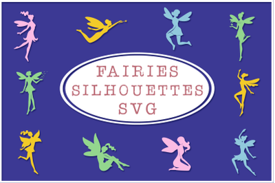 Fairy Silhouettes SVG Cut Files Pack 2