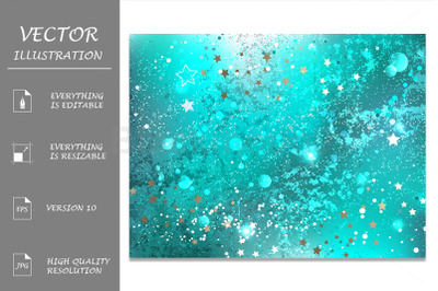 Turquoise Foil Background