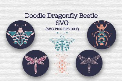 Doodle Dragonfly Beetle SVG