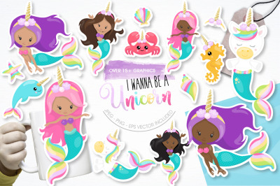 I wanna be a Unicorn graphics and illustration