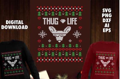 Thug Life Transparent SVG