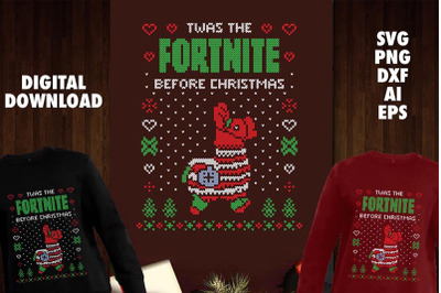 Twas the Fornite Before Transparent SVG