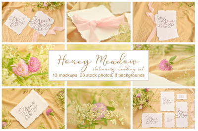 Honey Meadow. Wedding mockups & stock photo bundle
