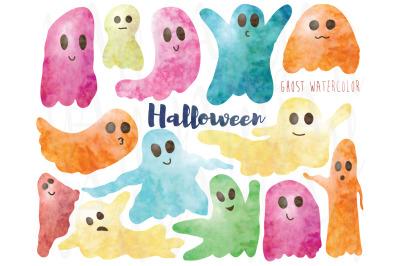 Ghost Halloween Watercolor Set