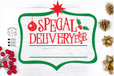 Special Delivery For - Christmas  Cut File