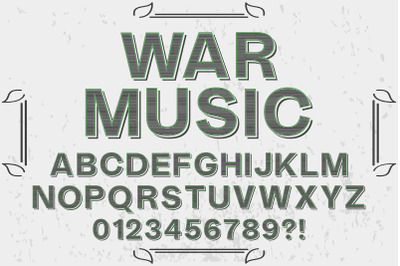 vintage Typeface  vector label design music