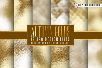 Gold and Bronze Autumn Foil Textures