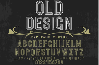vintage Typeface  vector label design