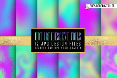 Hot Iridescent Foils digital paper