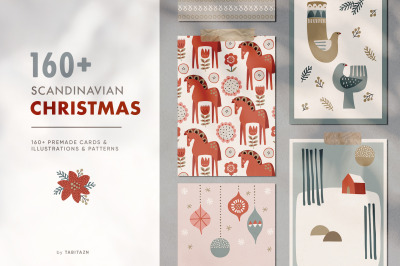 Scandinavian Christmas illustrations