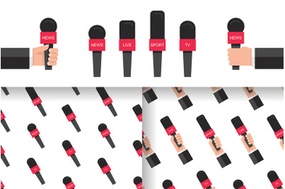 Set of microphones news + pattern