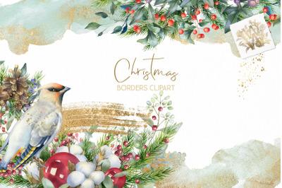 Christmas Watercolor Floral bouquets clipart, Winter wedding arrangeme
