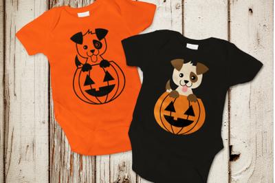 Halloween Pumpkin Dog | SVG | PNG | DXF