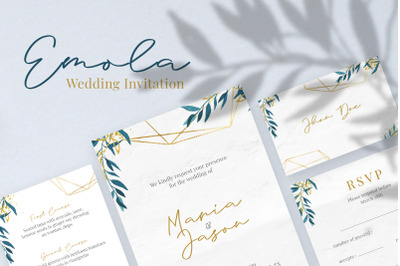 Emola Watercolor Wedding Invitation