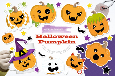 Halloween Pumpkins graphic and illustrations