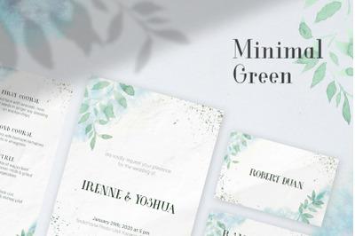 Minimal Green Invitation