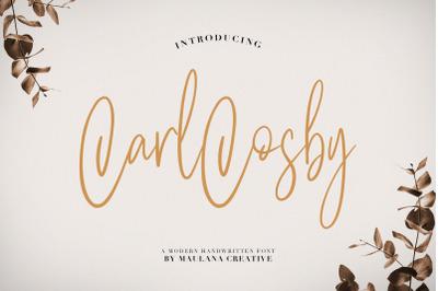 Carlcosby Font Script