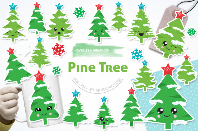Pine Tree graphic and illustration