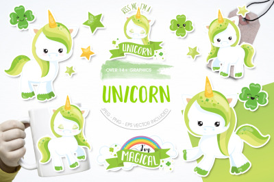 Unicorn graphic and illustration