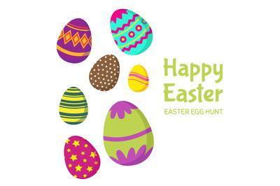 Happy easter, easter egg hunt vector background