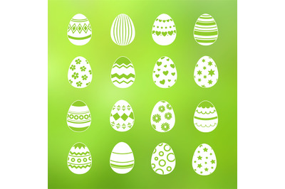Spring decorative eggs of set vector collection