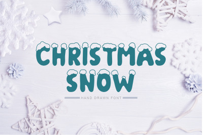 Christmas Snow Hand Drawn Font
