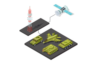 Remote control of military equipment with wi-fi