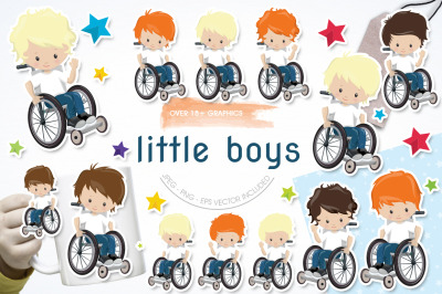 Little boys graphic and illustration