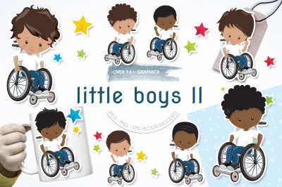 Little Boys II graphic and illustration