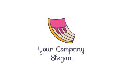 Modern Music Piano Logo