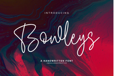 Bowleys Typeface