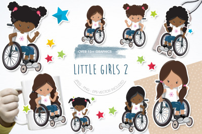 Little Girls 2 graphic and illustration