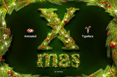 Christmas Animated Typeface