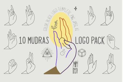 10 Mudras & Logo Pack