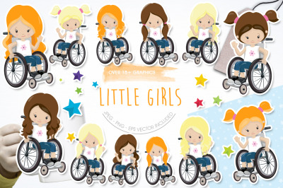Little Girls graphic and illustration