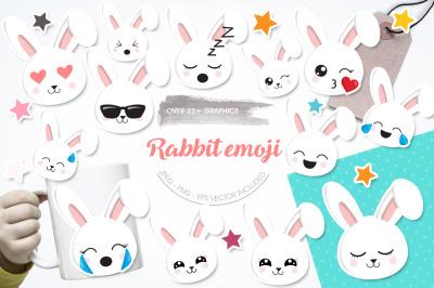 Rabbit Emoji graphic and illustration