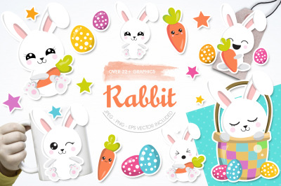 Rabbit graphic and illustration