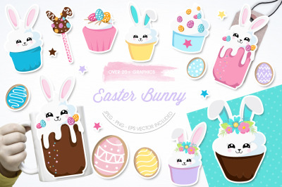 Easter Bunny graphic ang illustration