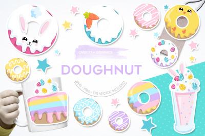 Doughnut graphic and illustration