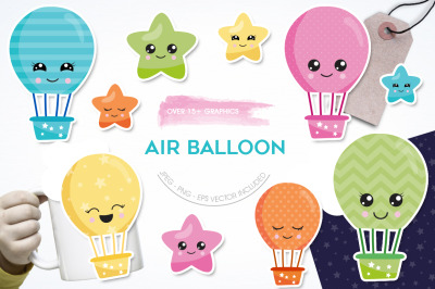 Air Balloon graphic and illustration