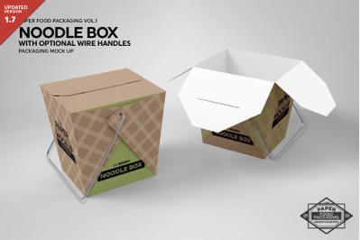 Paper Eurotote Bag With Ribbon Handles Mockup Front View