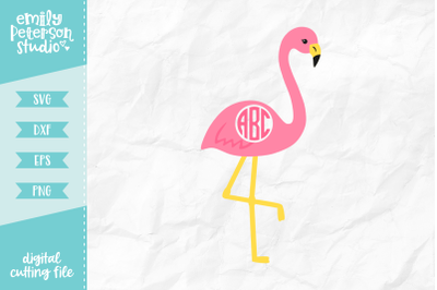 Flamingo Monogram SVG DXF