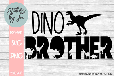 Dino Brother SVG