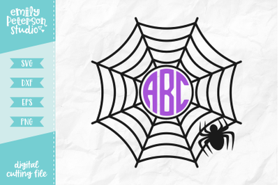 Spiderweb Monogram SVG DXF