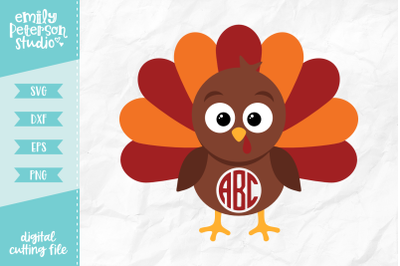 Turkey Monogram SVG DXF