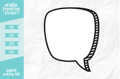 Speech Bubble SVG DXF