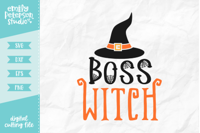 Boss Witch SVG DXF