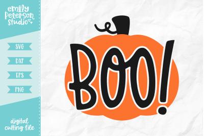 Boo Pumpkin SVG DXF
