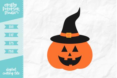 Jack o' Lantern Witch SVG DXF