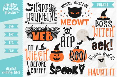 Halloween Bundle 12 Designs SVG DXF